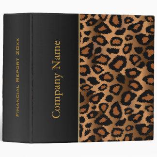 Leopard Animal Pattern Design 3 Ring Binder