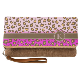 Leopard animal pattern monogram name bag