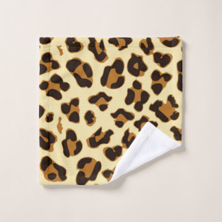 Leopard animal print brown wash cloth