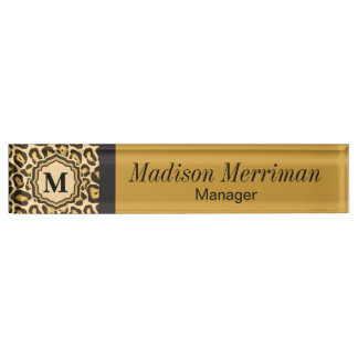 Leopard Animal Print | DIY Name and Monogram Nameplate