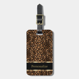 Leopard Animal Print | DIY Text Luggage Tag