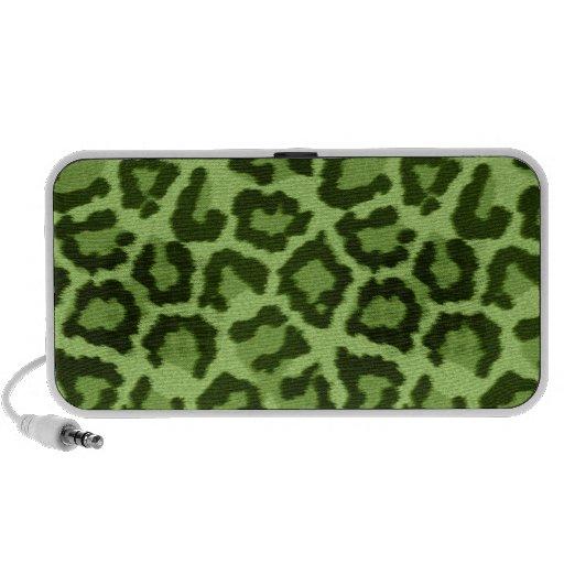 Leopard Animal Print Green Speaker