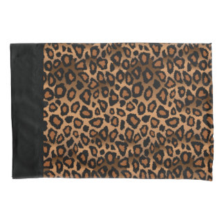 Leopard Animal Print in Brown and Black Pillowcase