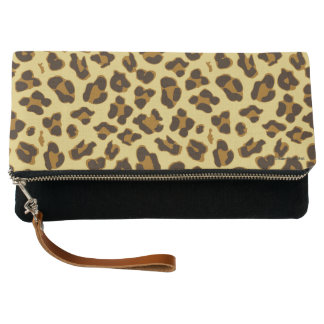 Leopard Animal Print Pattern Clutch Purse
