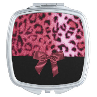 Leopard Animal Print Pattern Design Vanity Mirror