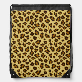 Leopard Animal Print Pattern Drawstring Bag