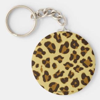 Leopard Animal Print Pattern Keychain Accessory