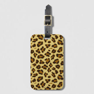Leopard Animal Print Pattern Luggage Tag