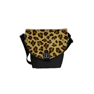 Leopard Animal Print Pattern Messenger Bag