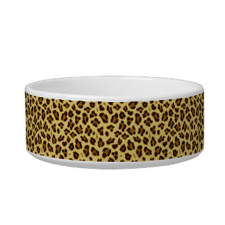 Leopard Animal Print Pattern Pet Bowl