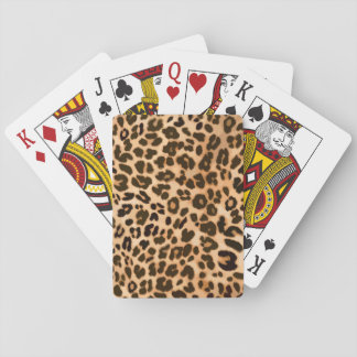 Leopard animal print pattern playing cards