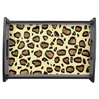 Leopard Animal Print Pattern Serving Tray