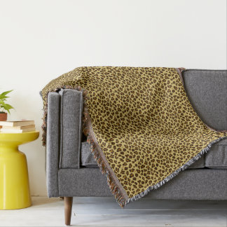 Leopard Animal Print Pattern Throw Blanket