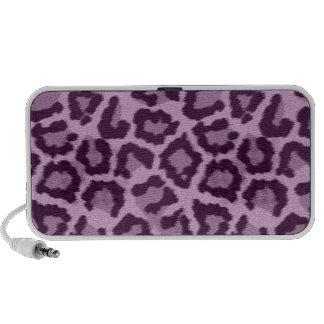 Leopard Animal Print Purple Speaker