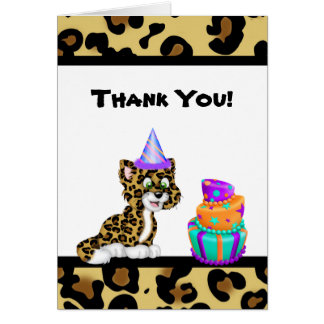 Leopard Animal Print Thank You Card