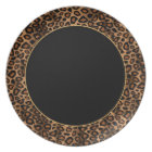 Leopard Animal Print with Gold Accents Plate