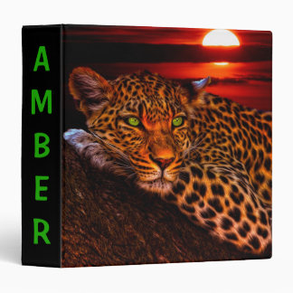 Leopard at Sunset Vinyl Binder