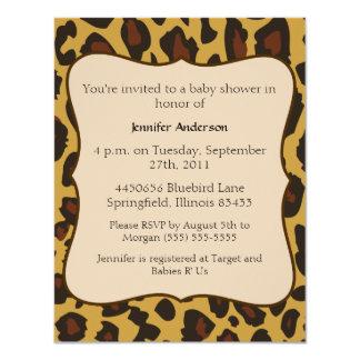 "Leopard Baby Shower 4.25"" X 5.5"" Invitation Card"