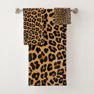 Leopard Bath Towel Set