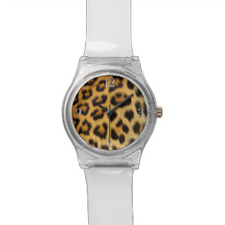 Leopard Big Cat Africa Wildlife Faux Fur Watch