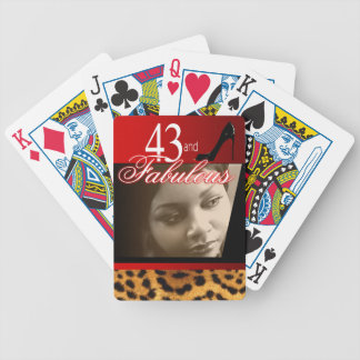 Leopard Birthday Party Photo Bicycle Playing Cards