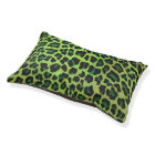 Leopard Black and Green Print Pet Bed