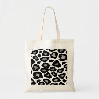 Leopard - Black and White Budget Tote Bag