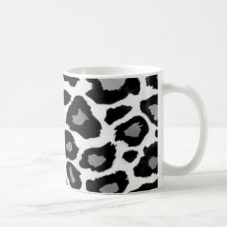 Leopard Black and White Classic White Coffee Mug