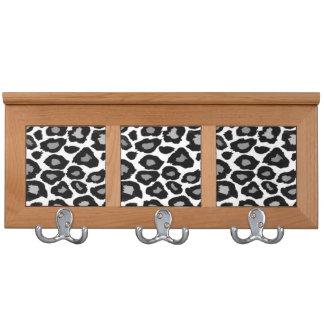 Leopard - Black and White Coat Racks