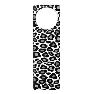 Leopard- Black and White Door Hangers