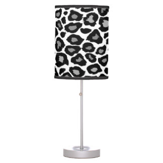 Leopard- Black and White Table Lamps