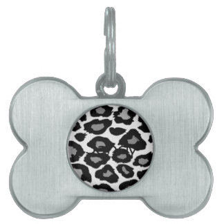 Leopard Black and White Pet Tag