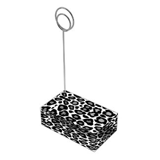 Leopard- Black and White Table Card Holders