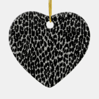 Leopard Blk/White Christmas Tree Ornaments