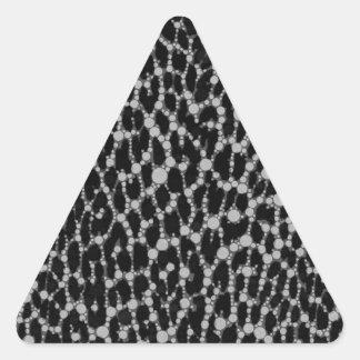 Leopard Blk/White Triangle Stickers