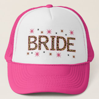 Leopard Bride Trucker Hat