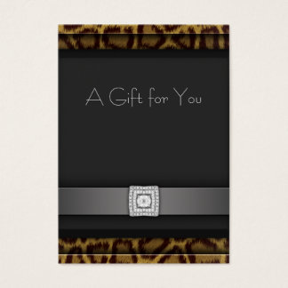 Leopard Business Gift Certificate Gift Cards