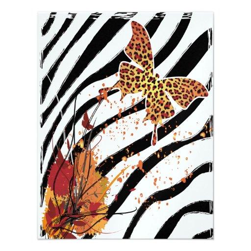 Leopard Butterfly Invitation Card 2