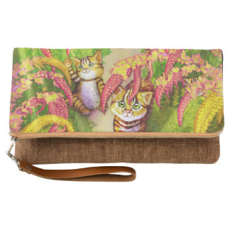 Leopard cat & Quinoa field Clutch