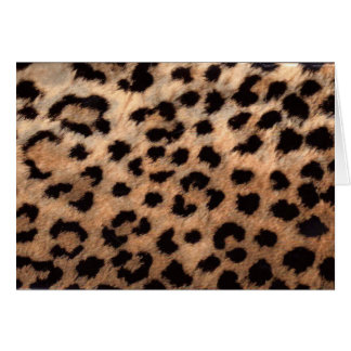 Leopard Cheetah Animal Print Girly Modern Trendy Card