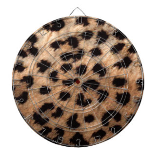 Leopard Cheetah Animal Print Girly Modern Trendy Dartboard