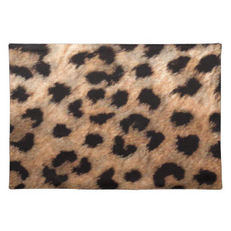 Leopard Cheetah Animal Print Girly Modern Trendy Placemat