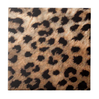 Leopard Cheetah Animal Print Girly Modern Trendy Tile