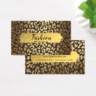 Leopard Cheetah Animal Skin Print Glam Modern Business Card