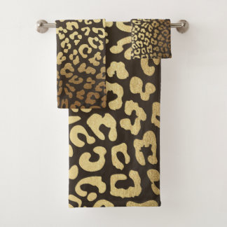 Leopard Cheetah Animal Skin Print Modern Bath Towel Set