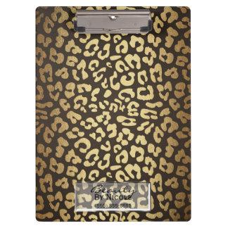 Leopard Cheetah Animal Skin Print Modern Glam Clipboard