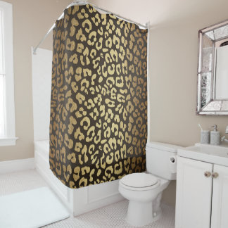 Leopard Cheetah Animal Skin Print Modern Glam Gold