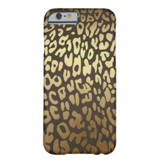 Leopard Cheetah Animal Skin Print Modern Glam Gold Barely There iPhone 6 Case