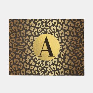 Leopard Cheetah Animal Skin Print Modern Glam Gold Doormat