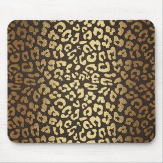 Leopard Cheetah Animal Skin Print Modern Glam Gold Mouse Pad